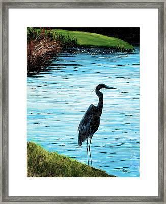Kiawah Heron Framed Print