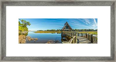 Kiawah Island Boathouse Panoramic Framed Print