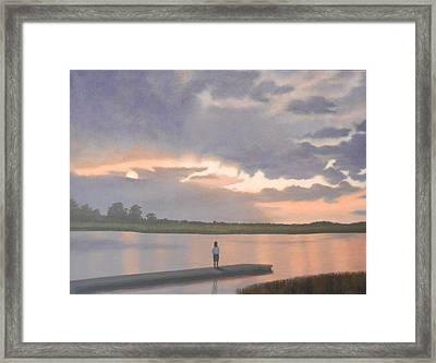 Kiawah Sunset Framed Print