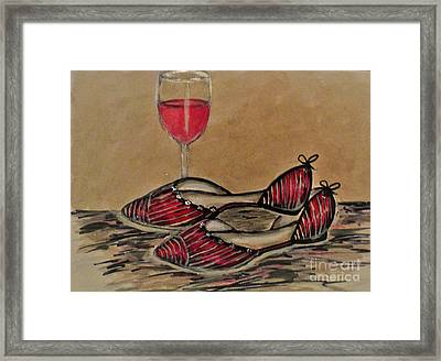Kick Off Your Shoes Framed Print by Liz Lafalce