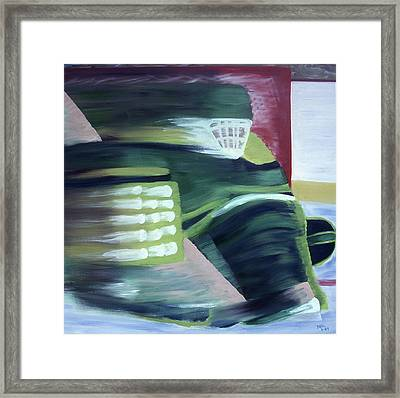 Kick Save Framed Print by Ken Yackel