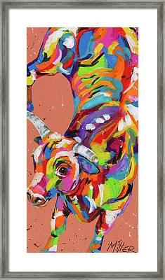 Kickin It Framed Print by Tracy Miller