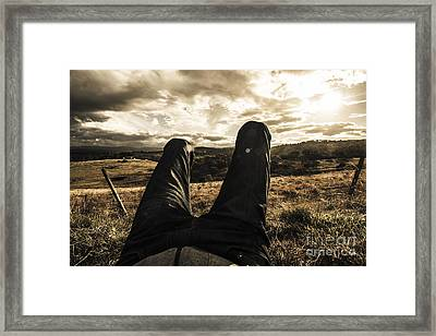 Kicking Back In Cranbrook Framed Print by Jorgo Photography - Wall Art Gallery