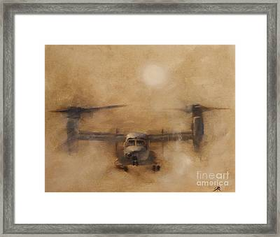 Kicking Sand Framed Print