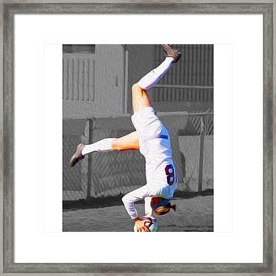 #kickstand #yoga Yogi #chelsi @sldpease Framed Print