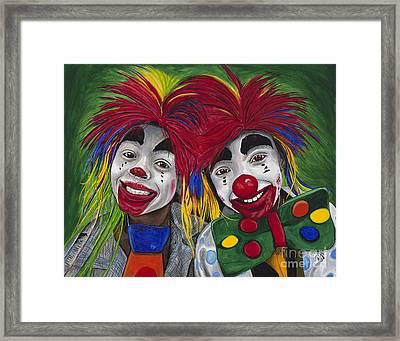 Kid Clowns Framed Print by Patty Vicknair