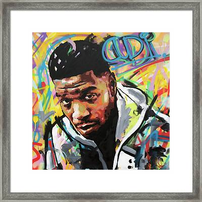 Kid Cudi Framed Print by Richard Day
