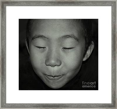 Kid From Beijing  Framed Print