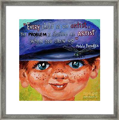 Framed Print featuring the painting Kid by Igor Postash