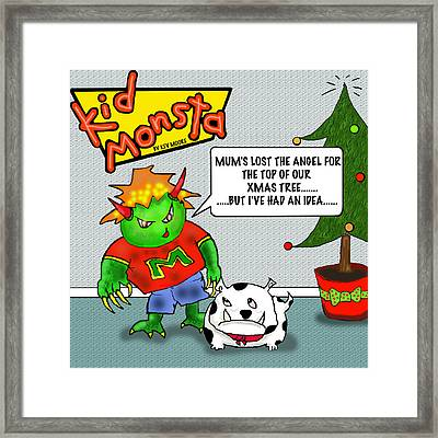 Kid Monsta Xmas 1 Framed Print
