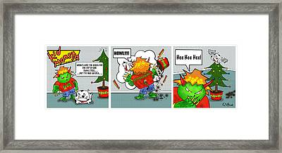 Kid Monsta Xmas Triptych Framed Print