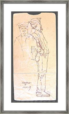 Kidnapper Framed Print by Radical Reconstruction Fine Art Featuring Nancy Wood