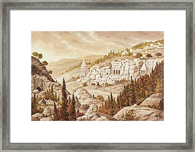 Kidron Jerusalem Framed Print by Aryeh Weiss
