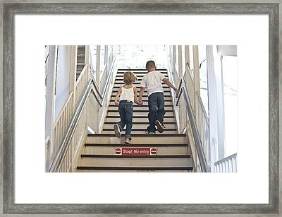 Kids Going Where They Shouldn't  Framed Print