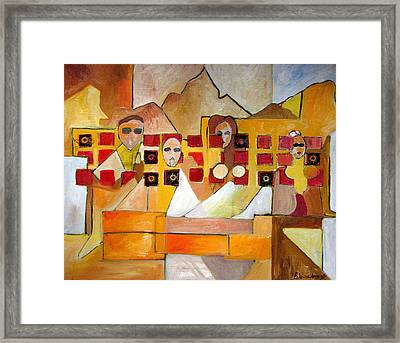 Framed Print featuring the painting Kids In Venice by Patricia Arroyo