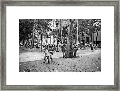 Kids Playing East Side Framed Print