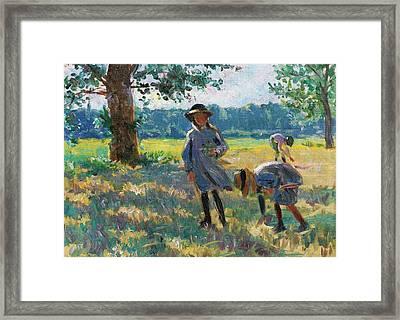 Kids Playing Framed Print by MotionAge Designs