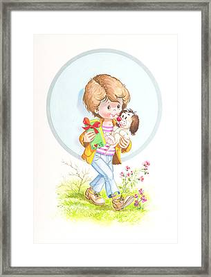 My Love As A Present Framed Print