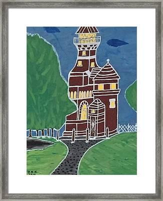 Kiel Germany Lighthouse. Framed Print