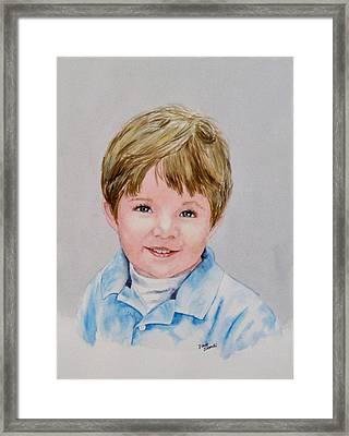 Kieran - Commissioned Portrait Framed Print