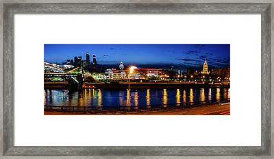 Kiev Railway Station And Moscow City Framed Print