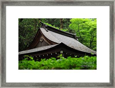 Kifune Shrine Framed Print by Stevyn Llewellyn