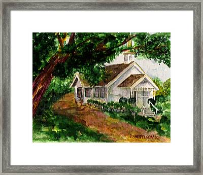 Framed Print featuring the painting Kihei Chapel by Eric Samuelson