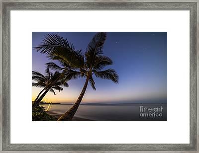 Kihei Maui Hawaii Palm Tree Sunrise Framed Print by Dustin K Ryan