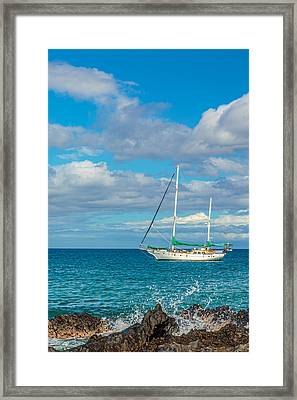 Kihei Sailboat 4 Framed Print