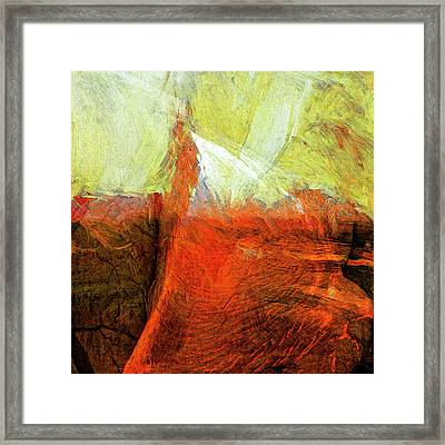 Framed Print featuring the painting Kilauea by Dominic Piperata