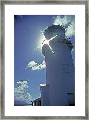 Framed Print featuring the photograph Kilauea Lighthouse by Marie Hicks
