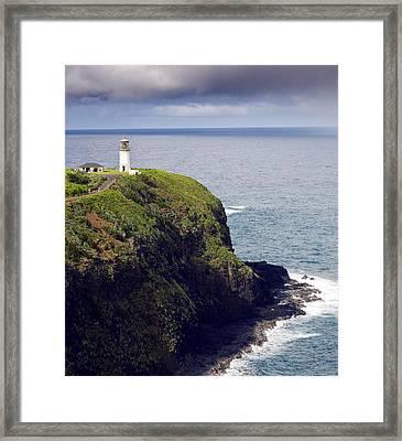 Kilauea Lighthouse On Kauai Hawaii Framed Print