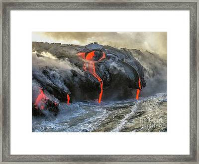 Kilauea Volcano Hawaii Framed Print