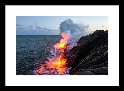 Lava Flow Framed Prints
