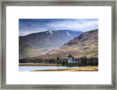 Kilchurn Castle On Loch Awe In Scotland Framed Print