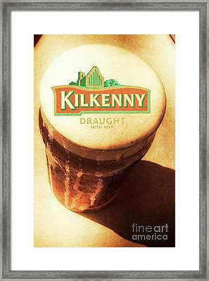Kilkenny Draught Irish Beer Rusty Tin Sign Framed Print by Jorgo Photography - Wall Art Gallery