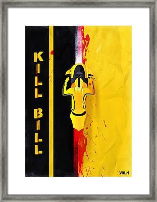 Kill Bill Minimalistic Alternative Movie Poster Framed Print