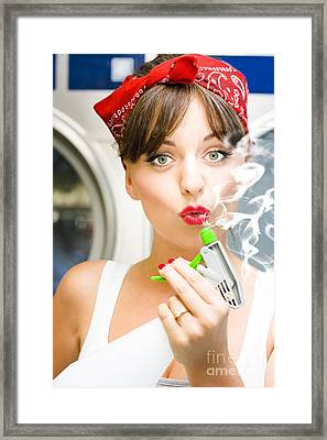 Killer Cleaning Lady Framed Print by Jorgo Photography - Wall Art Gallery