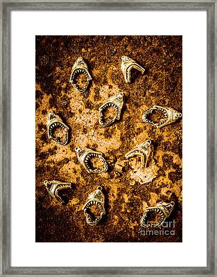Killer Shark Jaws  Framed Print