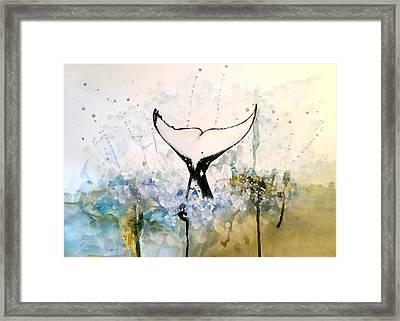 Framed Print featuring the mixed media Killer Splash by Rita Silva