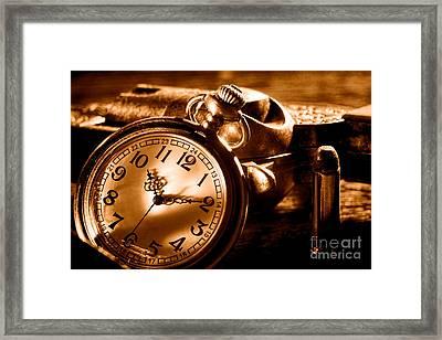Killer Time - Sepia Framed Print