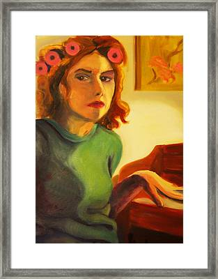 Framed Print featuring the painting Killing Time by Angelique Bowman