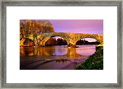 Kilsheelan Bridge At Night Framed Print