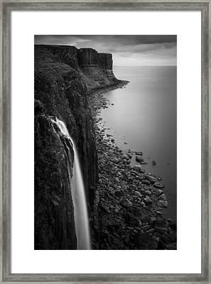 Kilt Rock Waterfall Framed Print by Dave Bowman