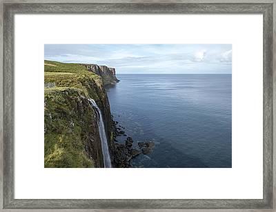 Kilt Rock Waterfall Isle Of Skye, Uk Framed Print