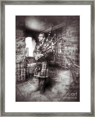 Kilts Piper   Framed Print