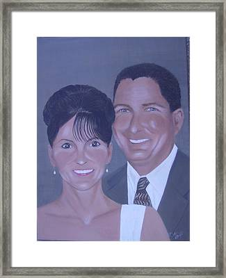 Kim And Kevin Framed Print by KC Knight