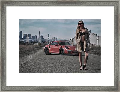 #kim And #porsche #gt3rs #print Framed Print by ItzKirb Photography