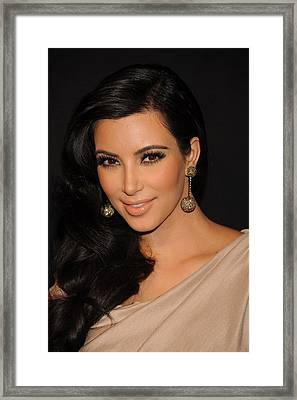 Kim Kardashian In Attendance Framed Print by Everett
