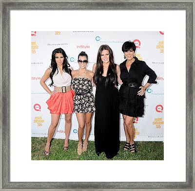 Kim Kardashian, Kourtney Kardashian Framed Print by Everett